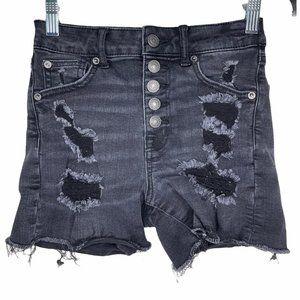 American Eagle Super Hi-Rise Shortie Jean Shorts